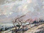 Wind 1950 23x29 Original Painting - Eric Sloane