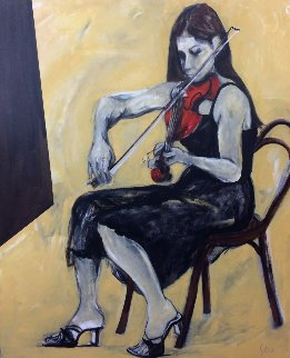 Sola 2006 60x48 Original Painting - Eduardo