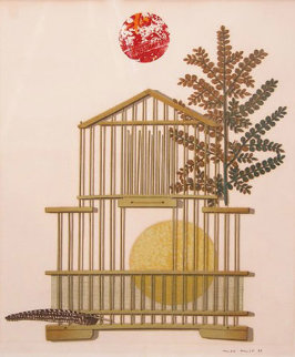 Bird Cage, Feather, Branch and Sun 1963 Limited Edition Print by Max Ernst