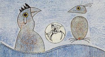 Deux Oiseaux (Blue) 1975 Limited Edition Print by Max Ernst
