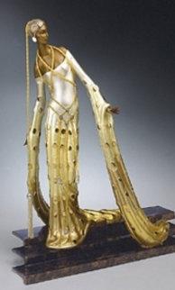 Melisande Bronze Sculpture 2001 18 in Sculpture by  Erte