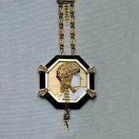 Aventurine IV Gold, Black Onyx Necklace State IV Jewelry by  Erte - 1