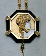 Aventurine IV Gold, Black Onyx Necklace State IV Jewelry by  Erte - 0