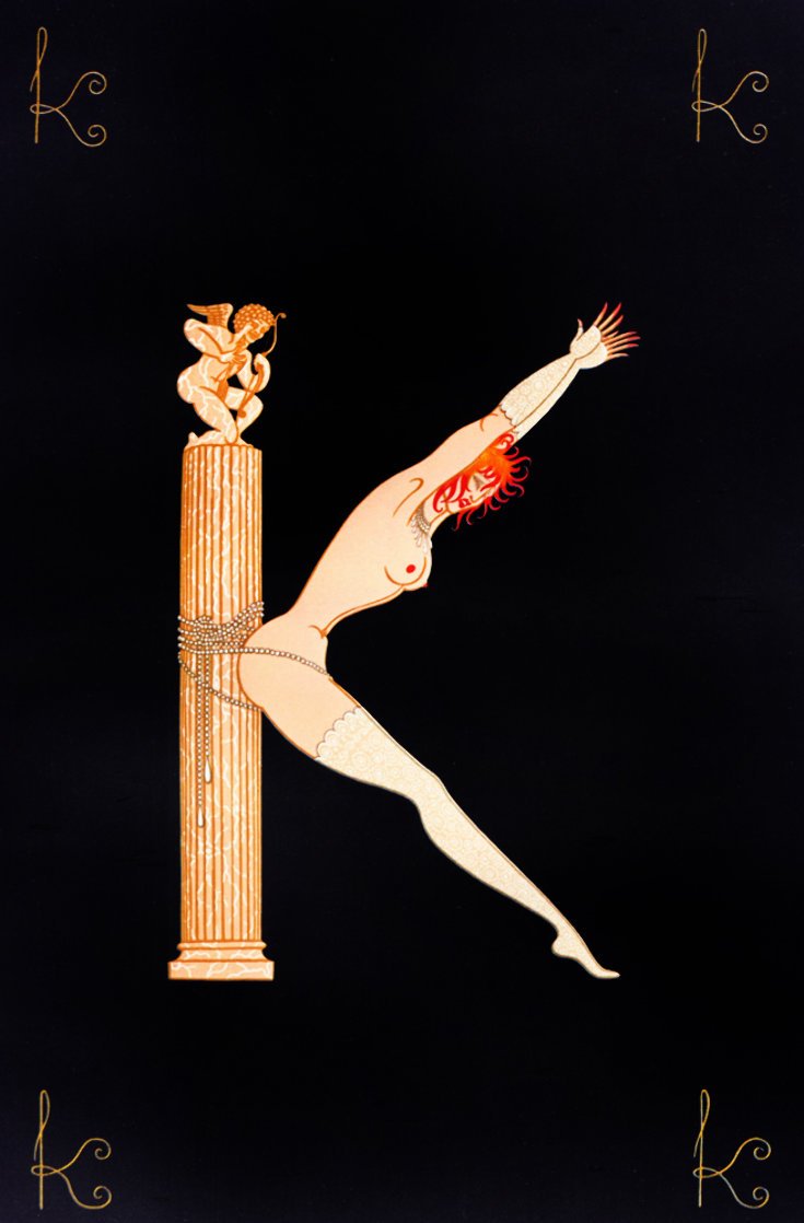 Letter K 1976 Limited Edition Print by  Erte