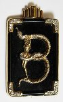 Alphabet Gold Diamond Onxy Brooch Pin B Jewelry -  Erte