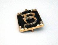 Alphabet Gold Diamond Onxy Brooch Pin B Jewelry by  Erte - 2