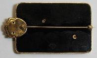 Alphabet Gold Diamond Onxy Brooch Pin B Jewelry by  Erte - 4