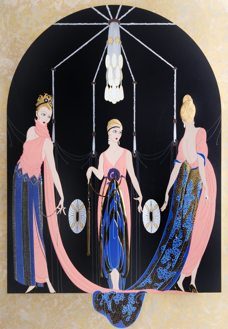 Three Graces 1983 Limited Edition Print by  Erte