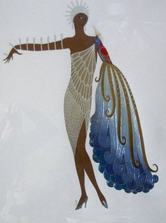 Black Diva 1984 Limited Edition Print -  Erte