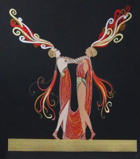 Kiss Of Fire AP 1983 Limited Edition Print by  Erte