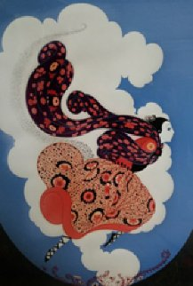 Pursuit of Flore  AP Limited Edition Print -  Erte