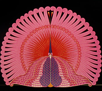 Phoenix Suite of 2 1983 Limited Edition Print by  Erte