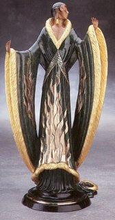 Femme De Luxe Bronze Sculpture 1990 Sculpture by  Erte