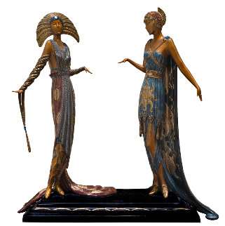 Two Vamps Bronze Sculpture 19 in Sculpture by  Erte