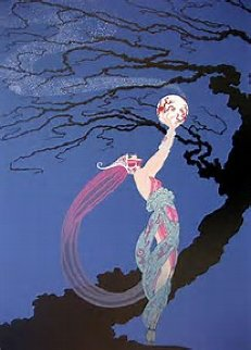 Fireflies 1980 Limited Edition Print by  Erte
