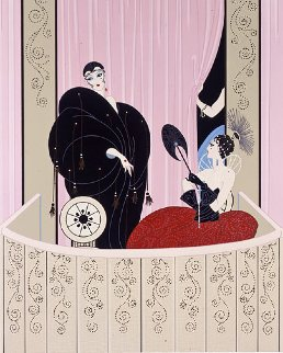 Loge de Theatre  Limited Edition Print by  Erte