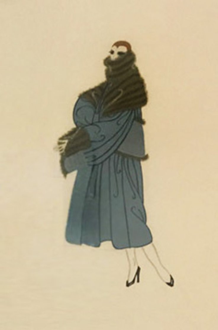 Tres Chic 1950 (Early) Limited Edition Print by  Erte