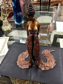 Feather Gown Bronze Sculpture 1990 17 in Sculpture by  Erte