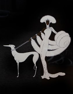 Ebony And White 1982 Limited Edition Print -  Erte