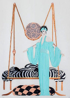 Pillow Swing 1986 Limited Edition Print by  Erte