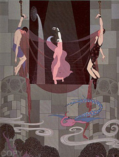 Chaste Susanna 1980 Limited Edition Print by  Erte