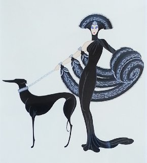 Symphony in Black 1983 Limited Edition Print -  Erte