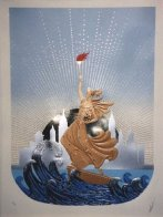 Statue of Liberty Suite of 2 1986 Limited Edition Print by  Erte - 1