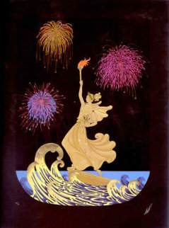Statue of Liberty Suite of 2 1986 Limited Edition Print -  Erte