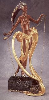 Pleasure of the Courtesean Bronze Sculpture 1988 Sculpture -  Erte