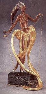 Pleasure of the Courtesean Bronze Sculpture 1988 Sculpture -  Erte