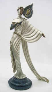 Tanagra Bronze Sculpture 1988 21 in Sculpture by  Erte