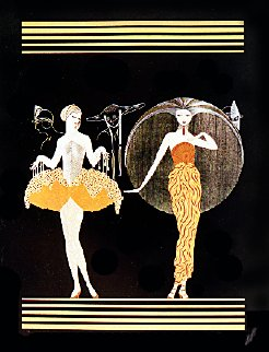 Morning Day / Evening Night, Suite of 2 1986 46x38 Super Huge  Limited Edition Print -  Erte