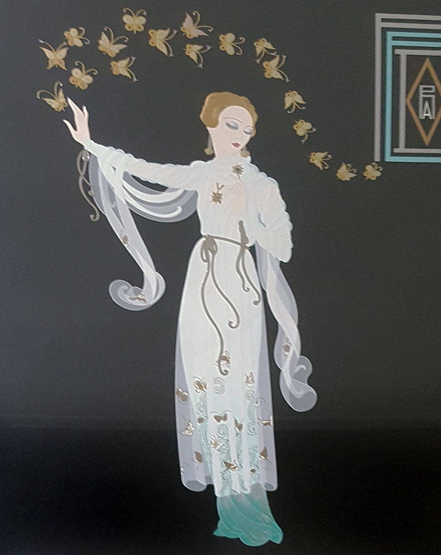 Fedora 1985 Limited Edition Print by  Erte