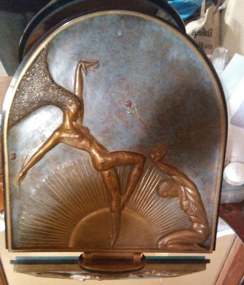 Le Femine Fatale Table Mirror Bronze Sculpture 1985 17 in Sculpture by  Erte