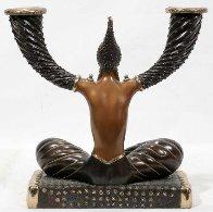Fortune Candlestick Bronze Sculpture 1987 10 in Sculpture by  Erte - 1