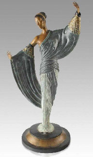 In the Evening Bronze Sculpture 1984 20 in Sculpture -  Erte