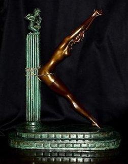 Prisoner of Love  (letter K) Bronze Sculpture 1983 18 in Sculpture by  Erte