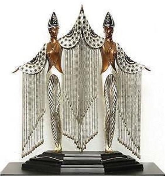 Les Bijoux De Perles Bronze Sculpture 1991 18 in Sculpture by  Erte