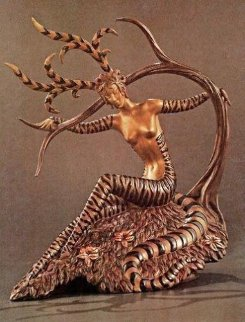 Hunting Bronze Sculpture 1985 Sculpture -  Erte
