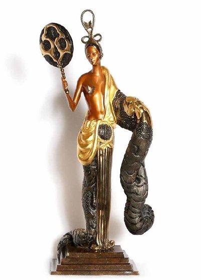 Bamboo Bronze Sculpture 1989 22 in Sculpture by  Erte