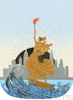 Statue of Liberty Suite of 2 1986 Limited Edition Print by  Erte