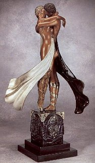 Lovers and Idols Bronze Sculpture 1989 20 in Sculpture -  Erte