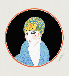 Yellow Turban 1979 Limited Edition Print by  Erte