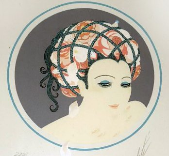 Rose Turban 1979 Limited Edition Print by  Erte