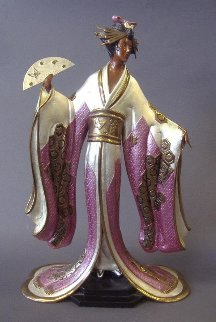 Madame Butterfly Bronze Sculpture 1990 19 in Sculpture by  Erte