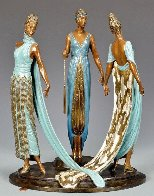 Three Graces Bronze Sculpture 1987 16 in Sculpture by  Erte - 0