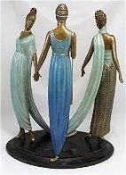 Three Graces Bronze Sculpture 1987 16 in Sculpture by  Erte - 1