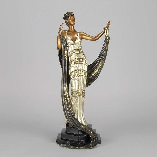 La Coquette Bronze Sculpture 1986 19 in Sculpture -  Erte