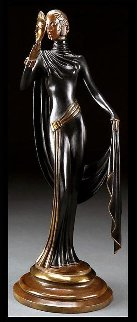 La Masque Bronze Sculpture 1986 19 in Sculpture by  Erte