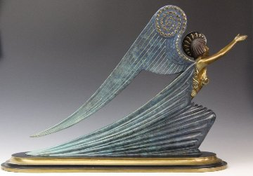 Angel Bronze Sculpture 1985 13 in Sculpture -  Erte